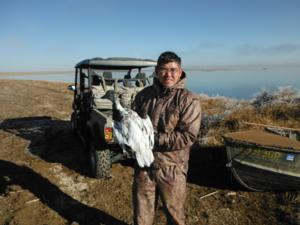 <p>After filling our big game tag we utilized the many species to hunt in Colorado and did some snow goose hunting.&nbsp; Here is a great bird</p>